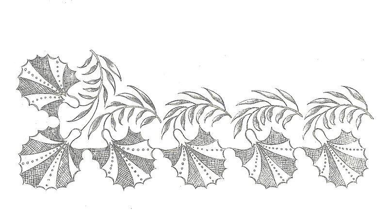 1817 Regency Needlework Pattern 4 April 1817