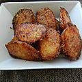 Pommes de terre rôties ail § parmesan