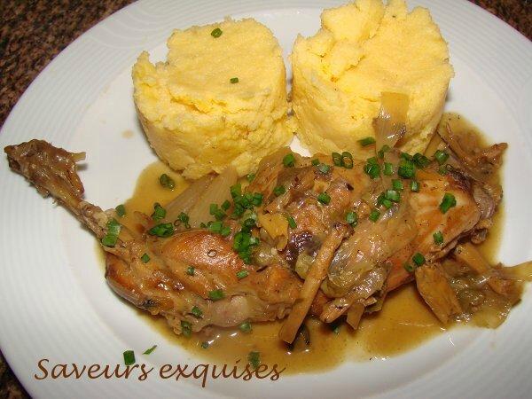 Cuisses de lapin aux câpres, citron et parmesan