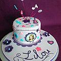 Gâteau d'anniversaire violetta !