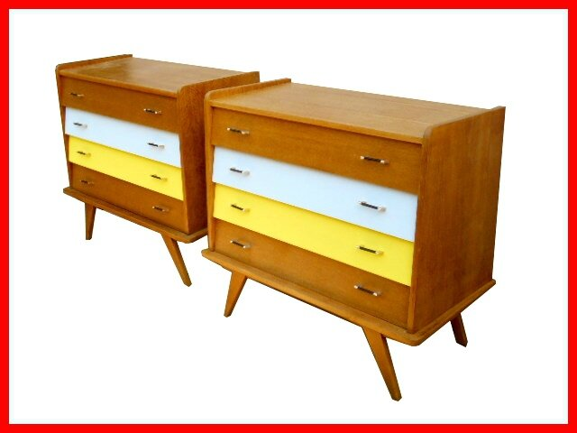 Commodes vintage style scandinave ann es 50 vendues for Style scandinave annees 50