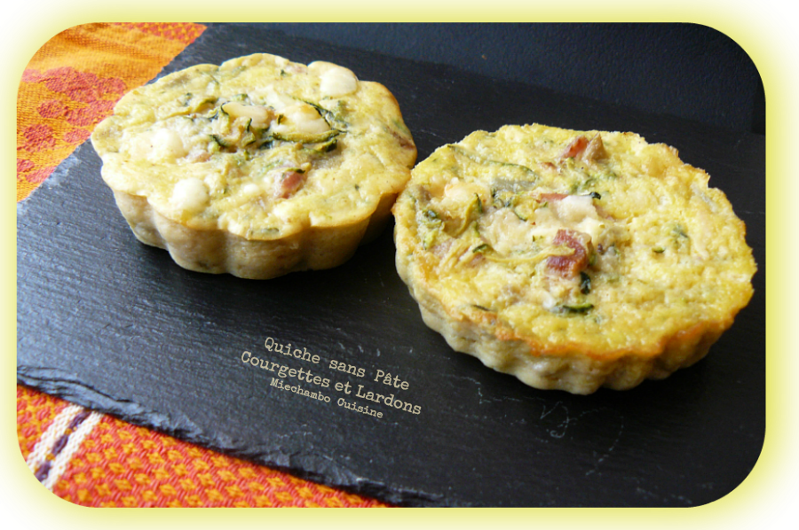 mini quiches sans p te aux lardons et courgettes balade thi ry miechambo cuisine. Black Bedroom Furniture Sets. Home Design Ideas