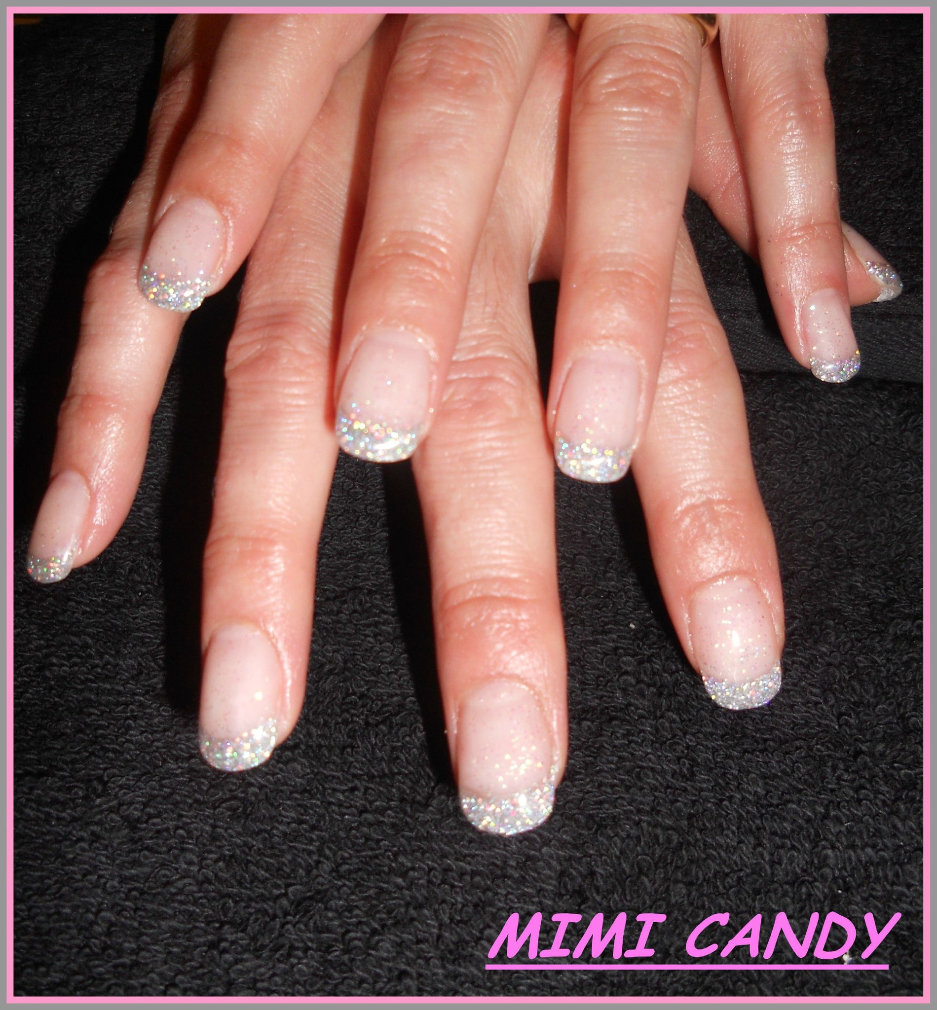 FRENCH PAILLETTES. Pose en gel sur ongles