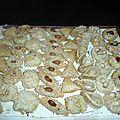 plateau gâteaux amandes