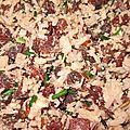 Salade de riz 3 couleurs, betterave et thon