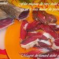 Magret de canard cuit au sel