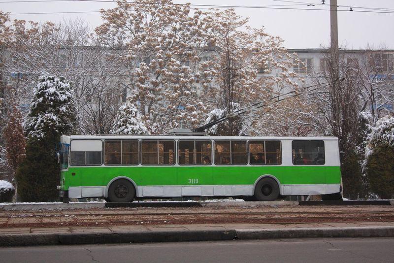 Trolley et voies de tram
