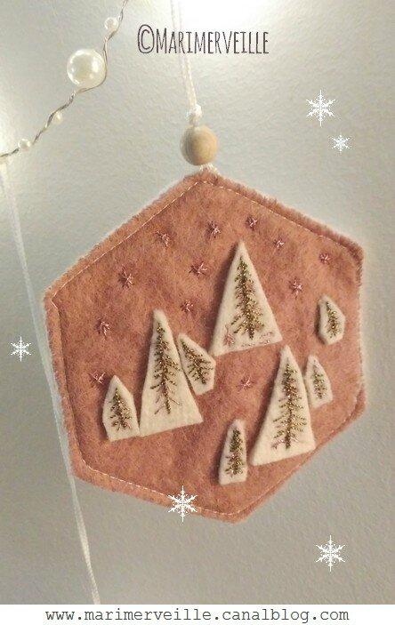 Décoration de charme esprit nordique N° 4 forêt de sapin Marimerveille