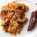 Faux cassoulet de confit de canard pour Gracianne au paprika fum et piment d'espelette