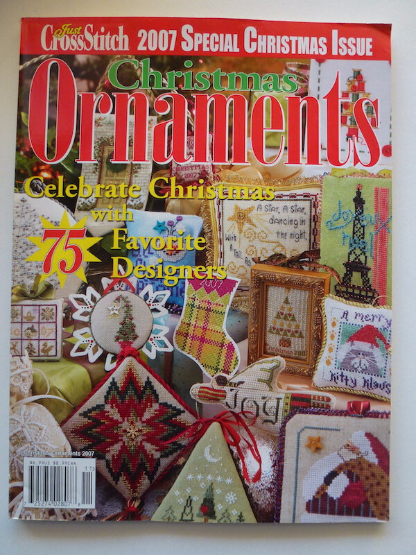 CHRISTMAS ORNAMENTS JUST CROSSSTITCH MAGAZINE 2007