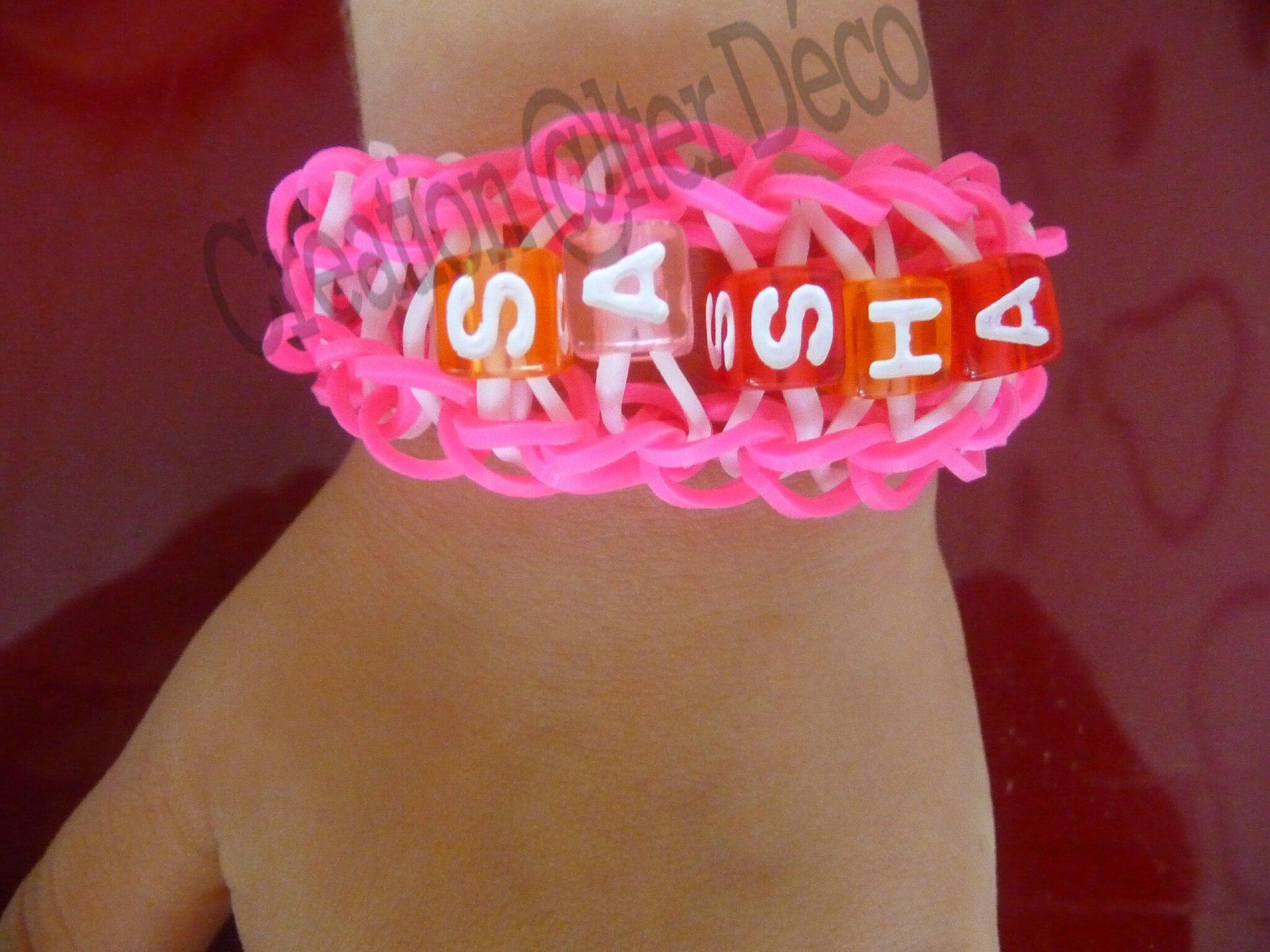Bracelet Elastiques Prnom Sasha