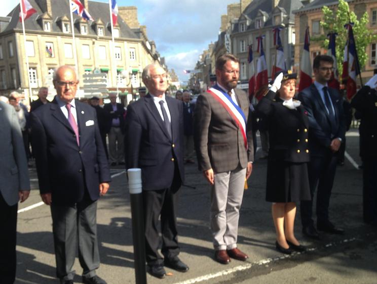 cérémonies du 75ème anniversaire de l'appel du 18 juin 1940 à Avranches - jeudi 18 juin 2015