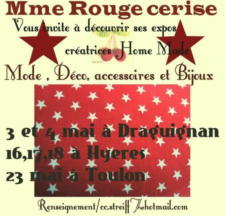 Affiche Mme Rouge Cerise