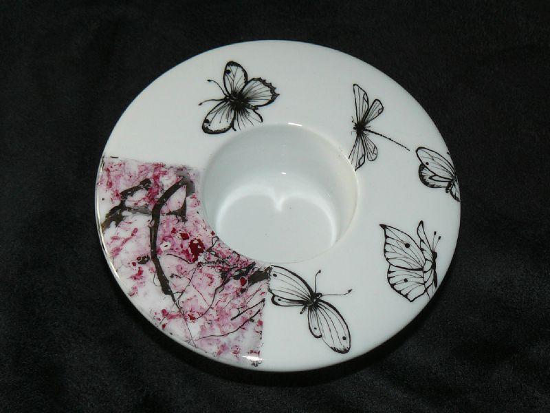 bougeoir lustre et papillons