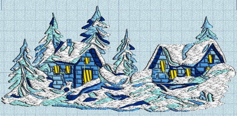 village sous la neige 04 machine
