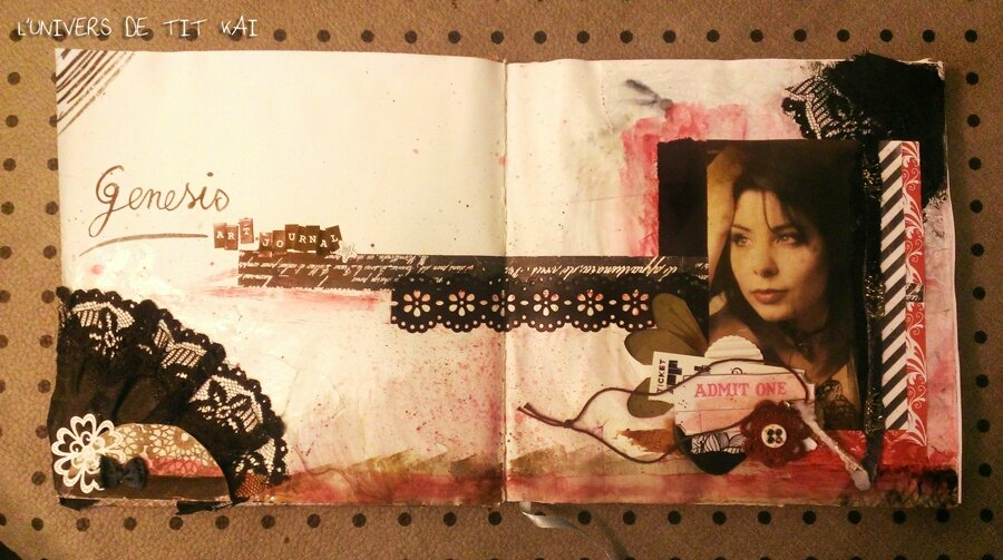 Mix Media / Mon Art Journal commence