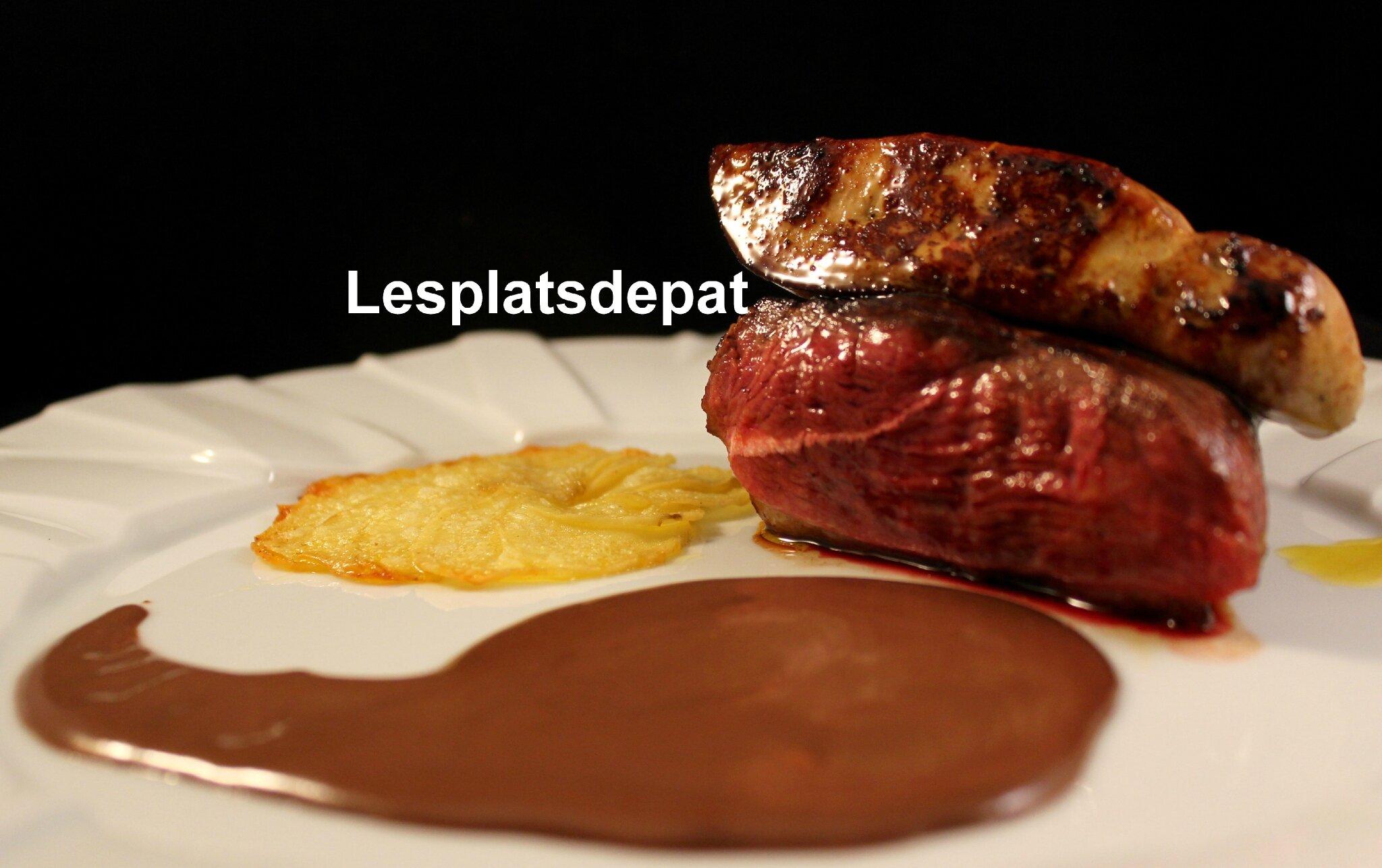 Saint Valentin – Magret de canard et foie gras, sauce chocolat cacao