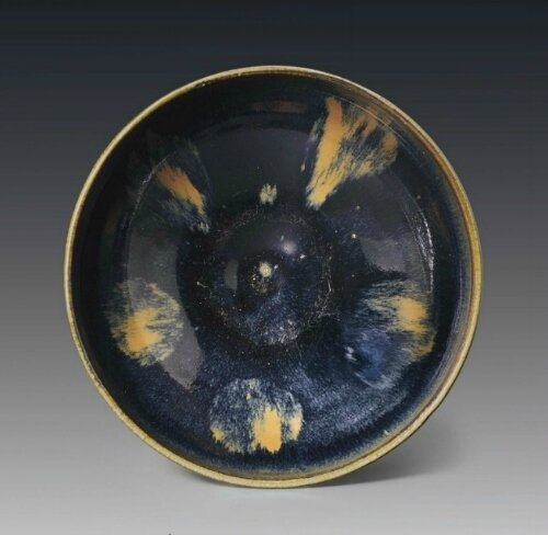 A Cizhou-type russet-splashed blackish-brown-glazed, bowl, China, Jin dynasty, 12th-13th century