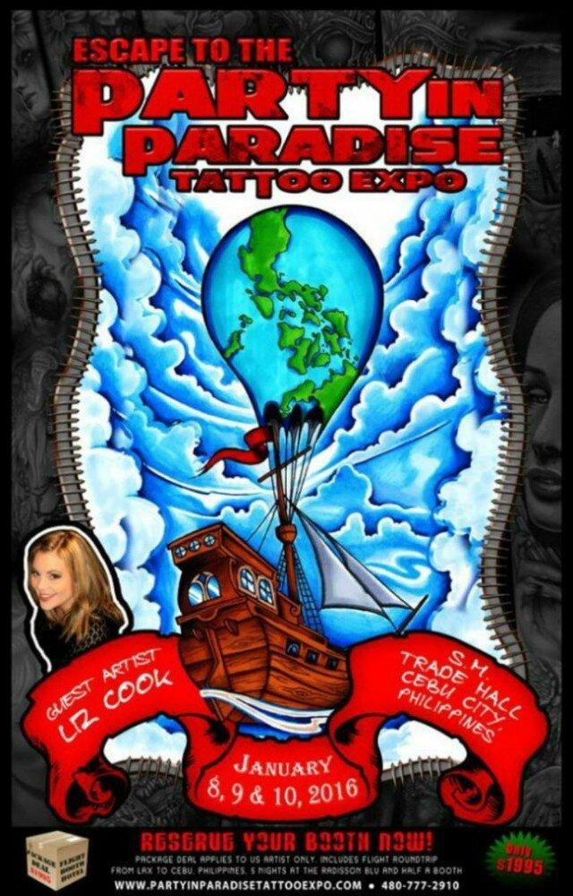 Parti à l'Expo Paradise Tattoo actions 08 - 10 Janvier 2016