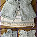 Robe et gilet stone washed