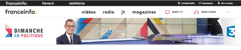 FRANCIS LETELLIER DIMANCHE EN POLITIQUE