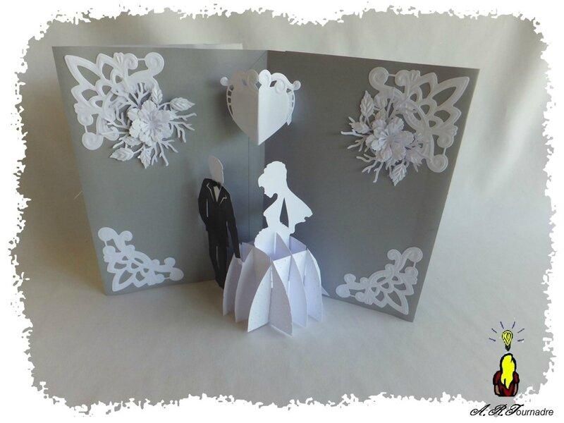carte pop up triptyque pour un mariage les passions d 39 art. Black Bedroom Furniture Sets. Home Design Ideas