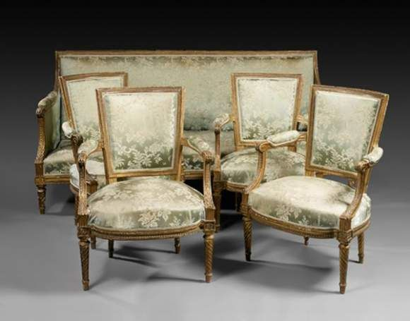 Beau mobilier de salon poque louis xvi alain r truong for Salon louis 16