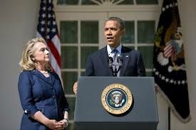 President Obama and Secretary of State Hillary Clinton White House sept 12 2012
