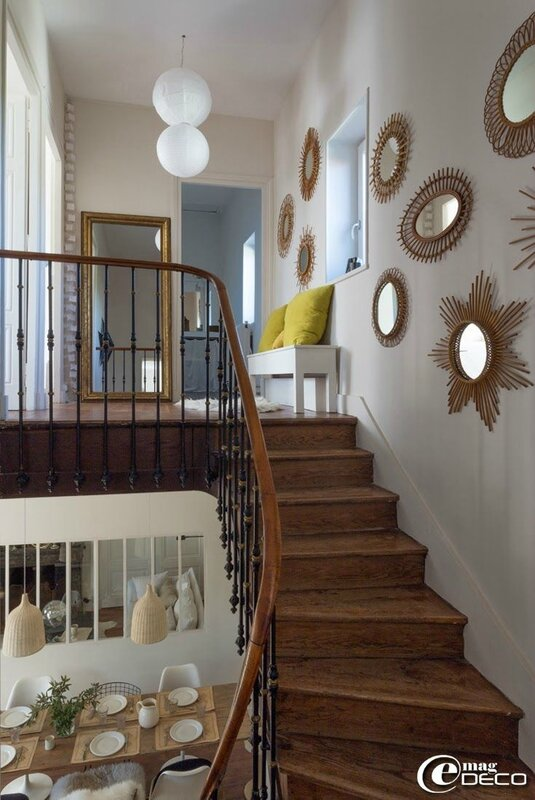 Inspirations d corer sa mont e d 39 escalier sonia saelens for Decoration montee escalier photos