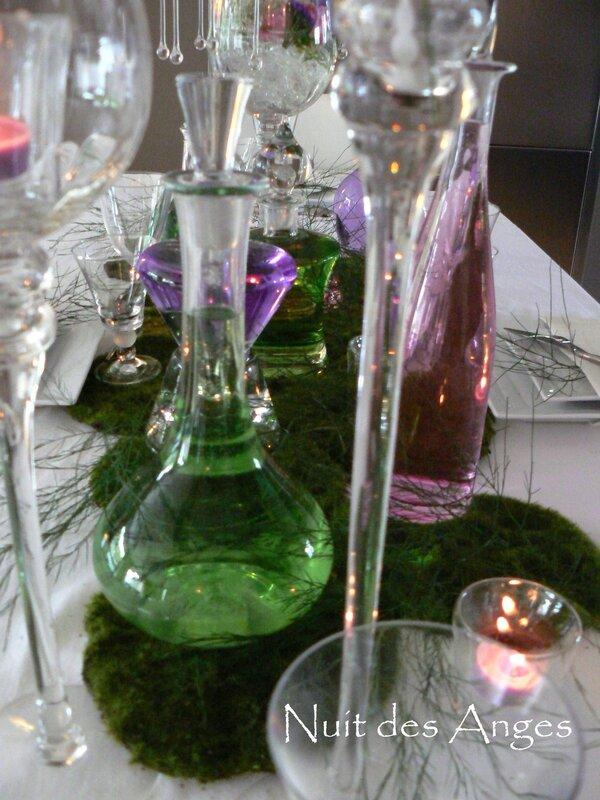Nuit des anges décoratrice de mariage décoration de table rose et vert 011