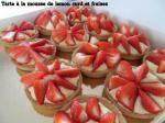 tarte mousse de lemon curd fraises