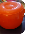 Pouf plastique orange