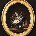 Jean-louis prévost (1740-1810), fleurs dans un vase en porcelaine de chine monté