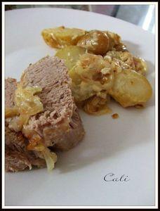 Filet Mignon & PDT au Roquefort, Cuisson à l'Etouffée 003
