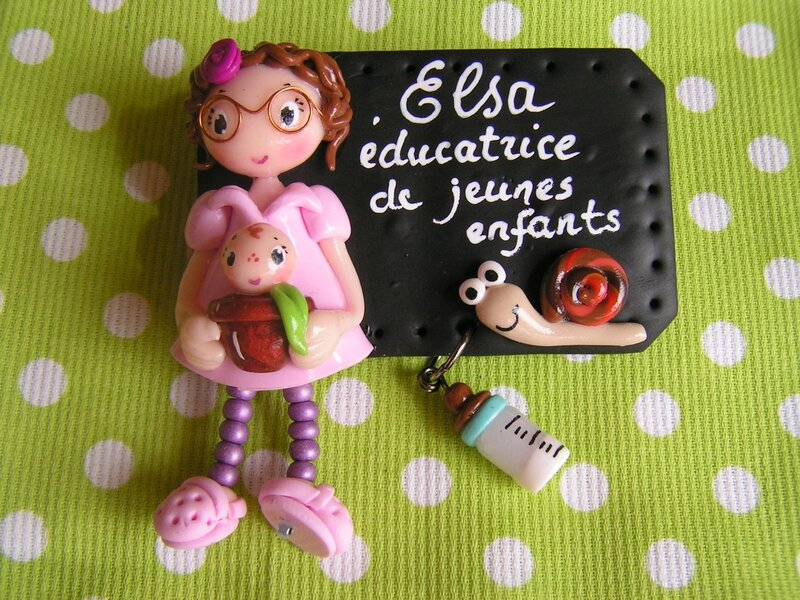 badge éducatrice elsa