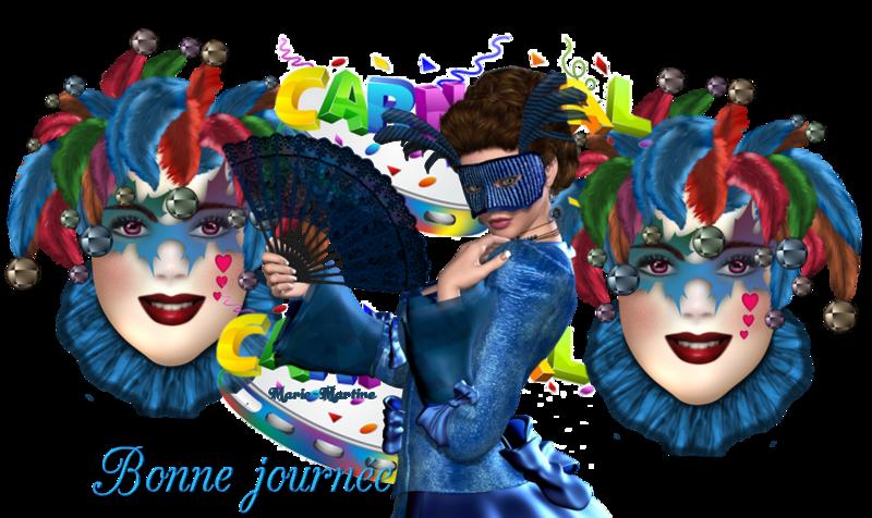 carnaval masques bleus
