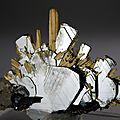 Rutile, hematite, and quartz