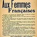 Les femmes pendant la grande guerre.