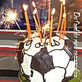Gteau d'anniversaire ballon de foot
