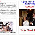 Programme du concert du 25 novembre