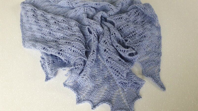 Beginner's Lace Shawl 12