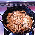 Nouilles chinoises aux crevettes sans thermomix