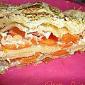 ♥ lasagnes aux carottes & chèvre