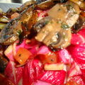 Salade de carmine aux champignons