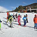 Coucou les parents c'était journée ski
