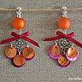 BO Tiphaine orange et fushia