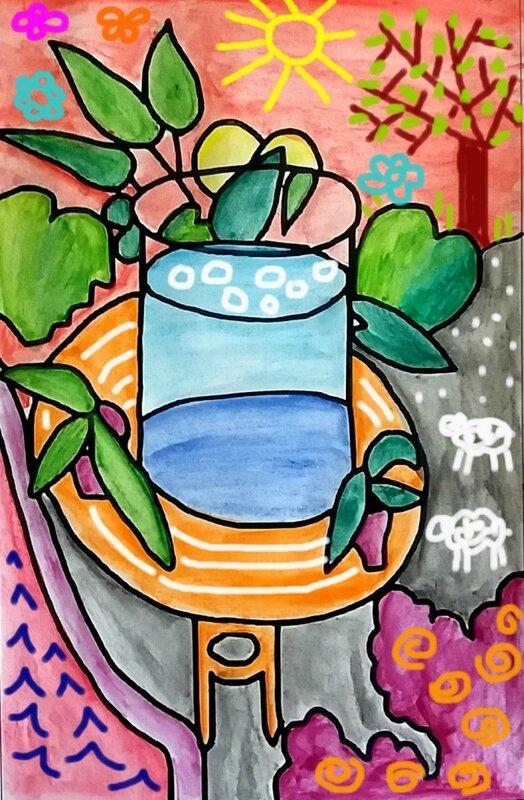 253_Compositions abstraites_Les poissons de Matisse (24c)