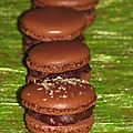 Macarons tout chocolat et chocolat noix de coco