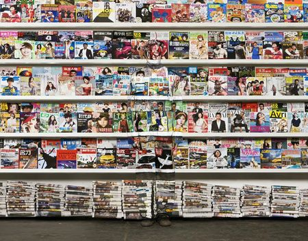 Liu Bolin Chinese magazines 2012 photo Courtesy