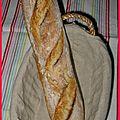Ma première baguette de pain